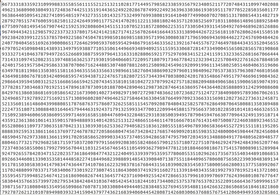Así comienza el número primo más grande del mundo