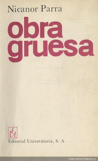 Obra gruesa | Nicanor Parra
