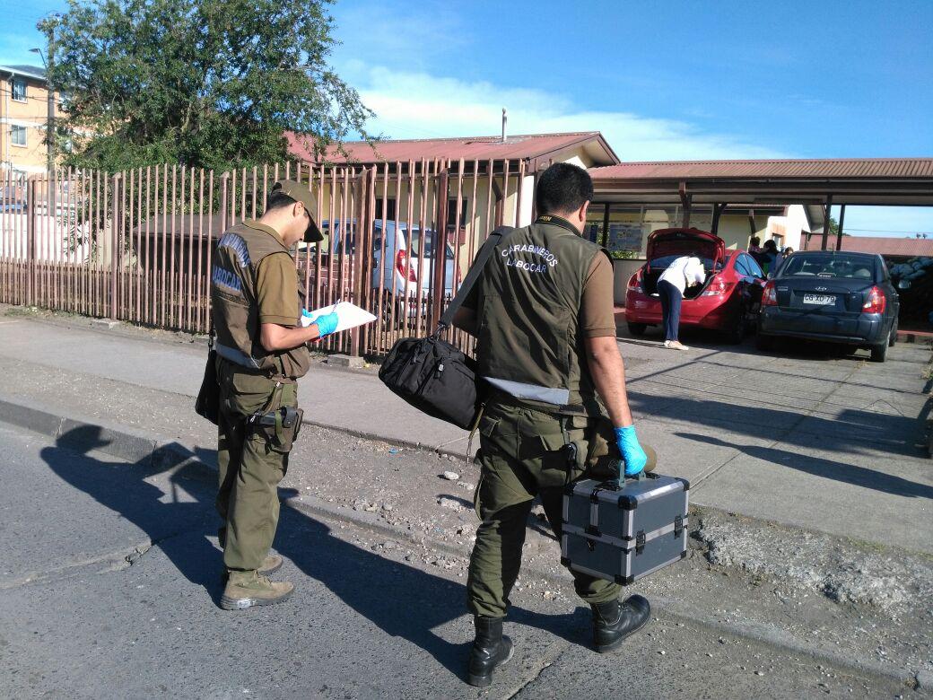 Carabineros entra a centro de salud afectado por robo en la comuna de San Pedro de la Paz