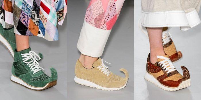 Zapatillas con punta de Loewe