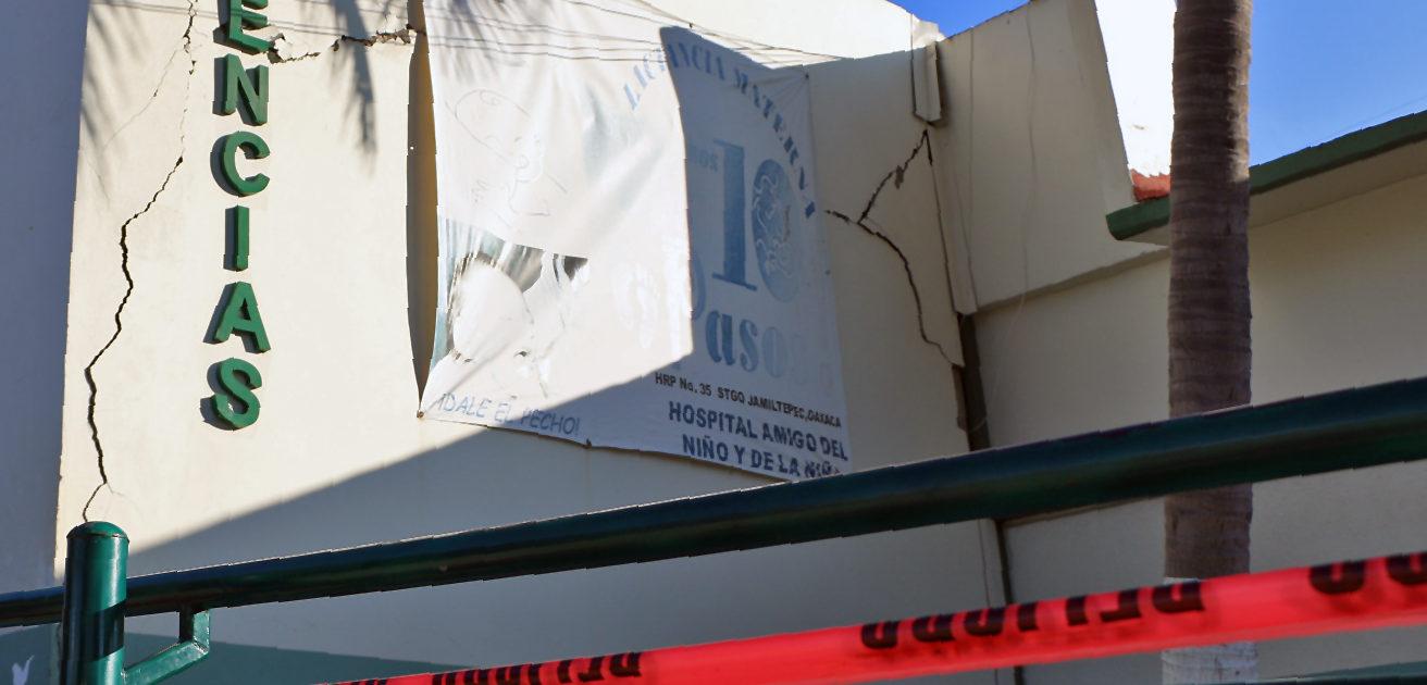 Edificio dañado.