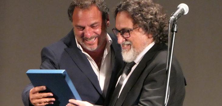 Silvio Caiozzi en el homenaje en Punta del Este