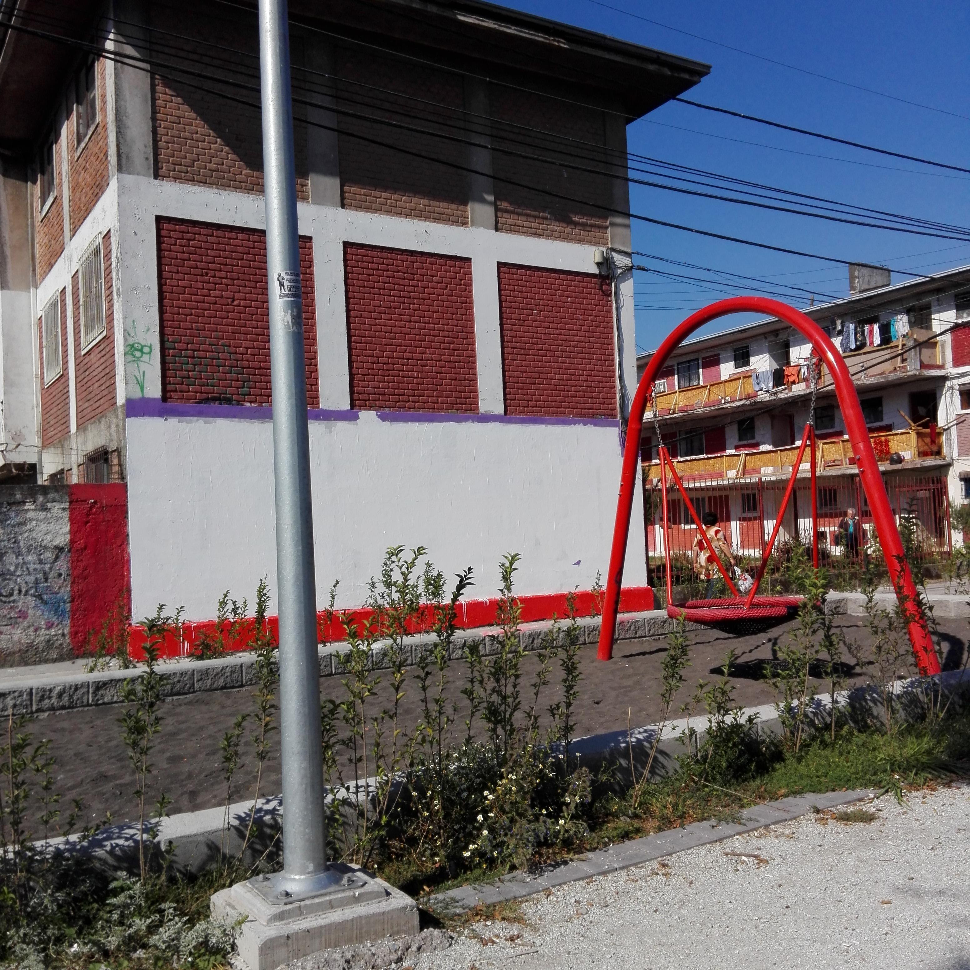 Así quedó el sitio donde estaba ubicado el mural destruido | Andrea Herrera (c), cedida a BioBioChile