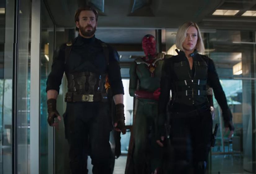 """Captura del teaser de """"Los Vengadores: la guerra del infinito"""""""