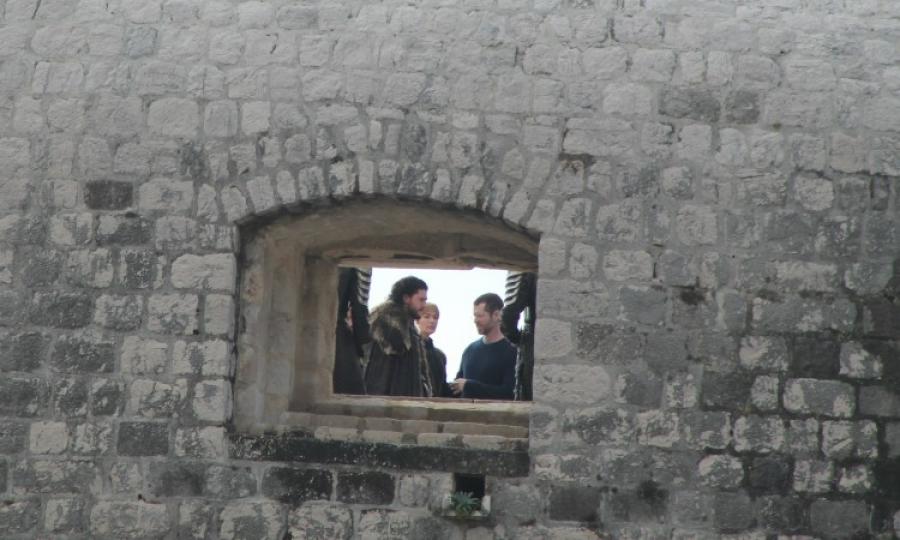 Jon y Cersei en set de filmación de Game of Thrones temporada 8 | www.thedubrovniktimes.com