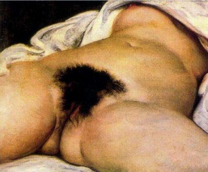 """El origen del mundo"" de Courbet"