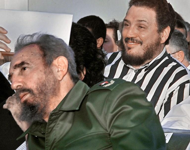 Fidel Castro y su hijo mayor | ARCHIVO | Agence France-Presse