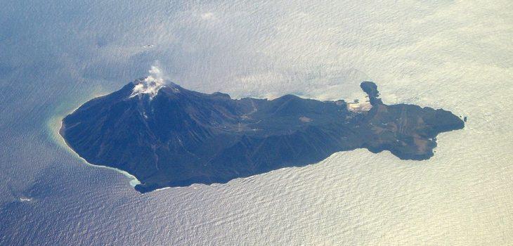 Isla Iōjima, donde está la parte norte del Kikai, que no está sumergida   Ray_go (cc)