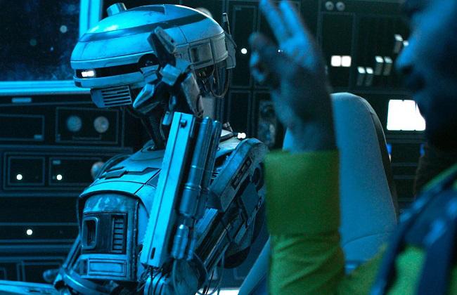 L3-37 con Lando Calrissian | Solo: una historia de Star Wars