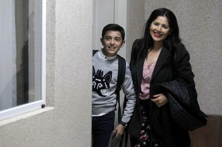 Luis �ngel Gómez Jaramillo y su madre | Ulises Ruiz | AFP