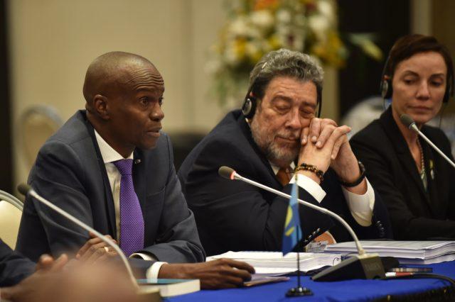 Jovenel Moïse en la última conferencia de la Comunidad del Caribe (Caricom). Héctor Retamal | Agence France-Presse