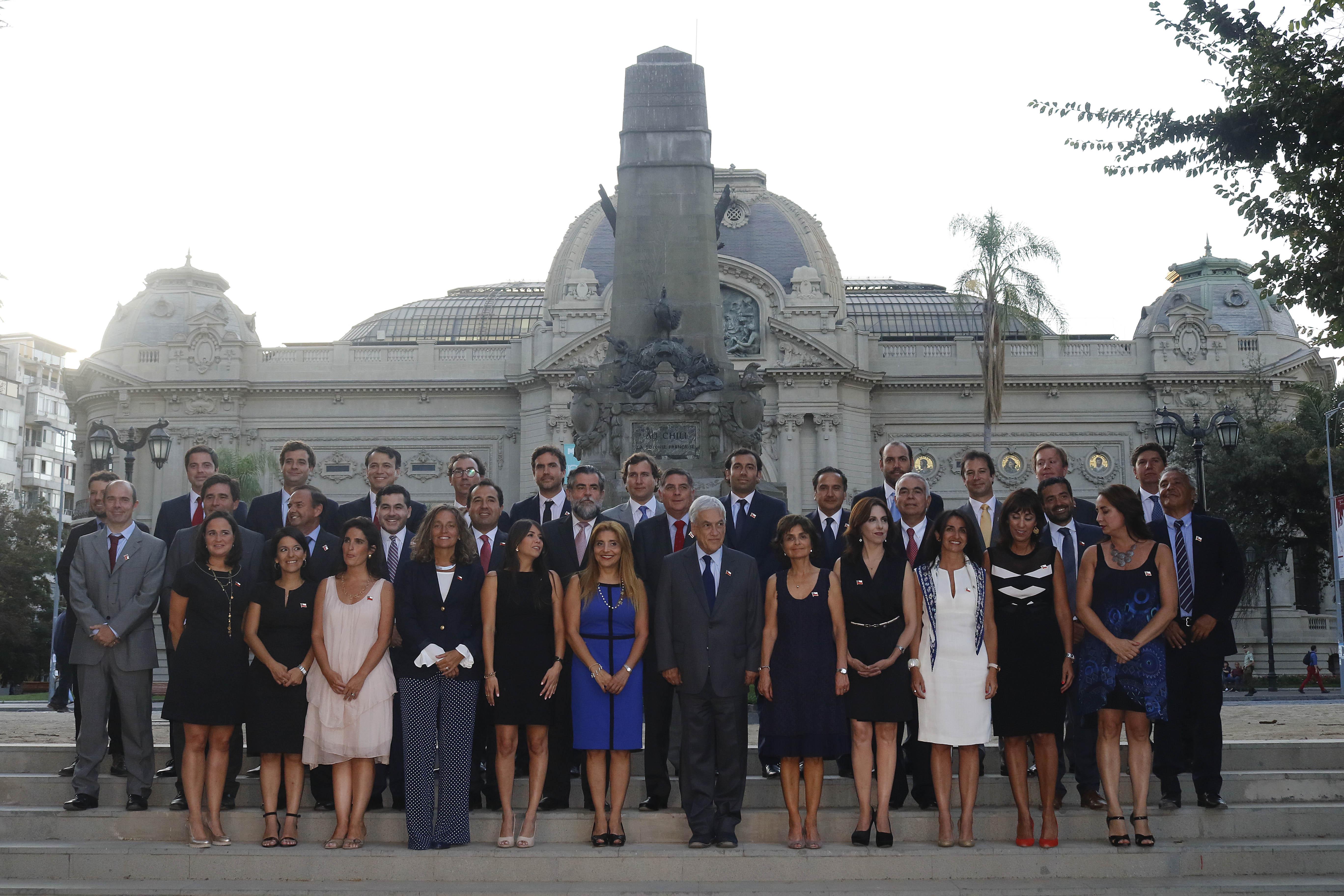 Piñera junto a los futuros subsecretarios el pasado 21 de febrero.