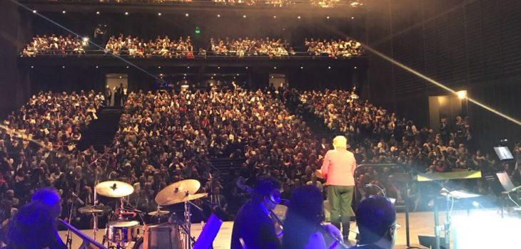 Bachelet inaugura teatro regional del b o b o en medio de for Noticias mas recientes del medio del espectaculo