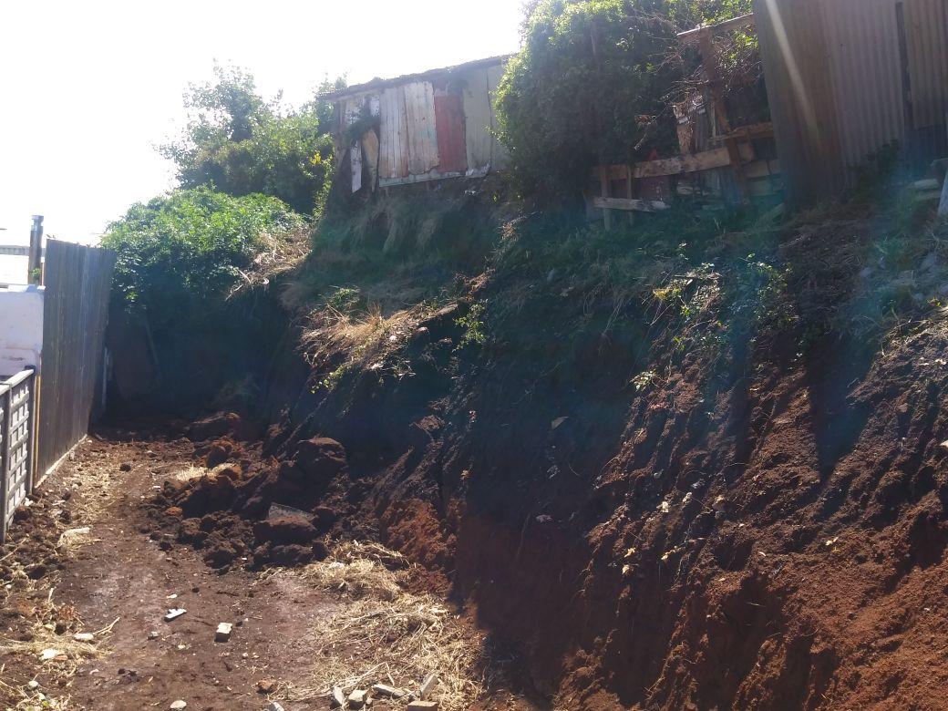 Terreno afectado.