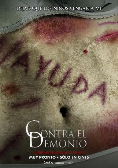 """Afiche """"Contra el demonio""""."""