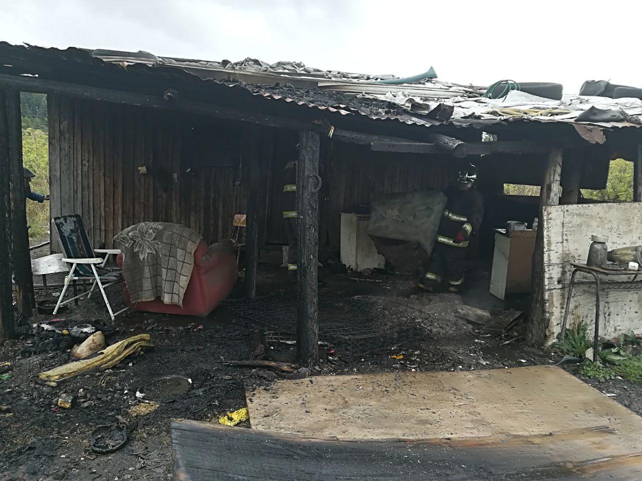 Sitio tras el incendio.