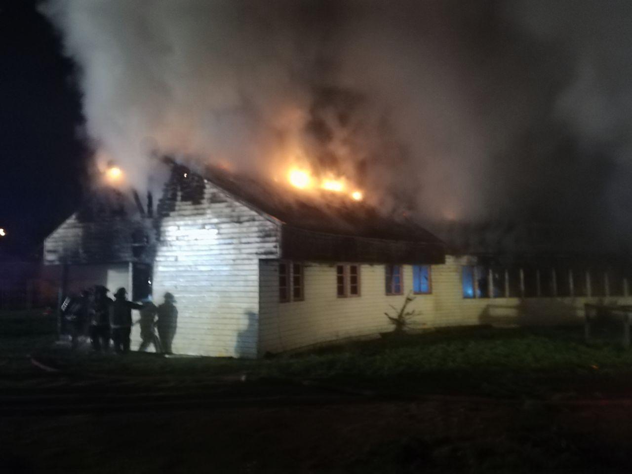 Incendio en Cideri.