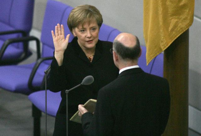 Merkel en 2005. John MacDougall | Agence France-Presse