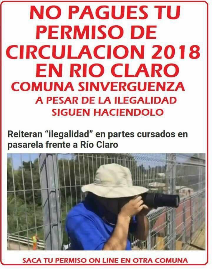 Imagen que circula en redes sociales de Río Claro