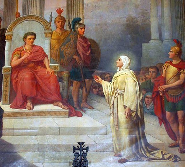 Representación del encuentro entre Magdalena y Tiberio | Wikimedia