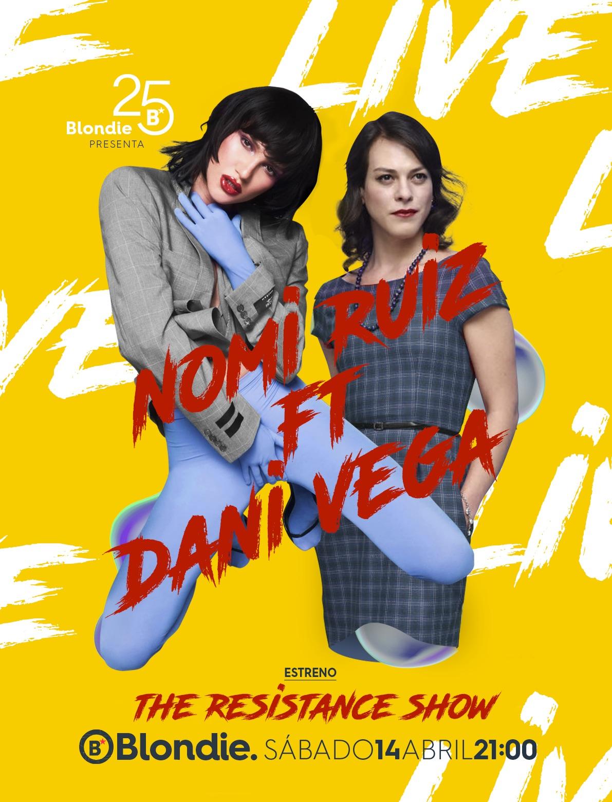 El afiche del show.