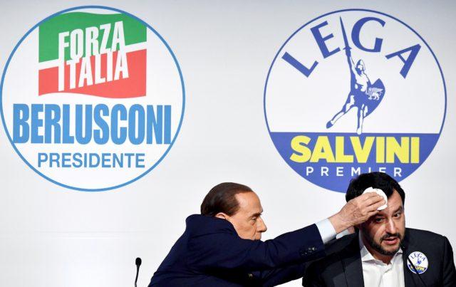 Berlusconi y Salvini. Alberto Pizzoli | Agence France-Presse