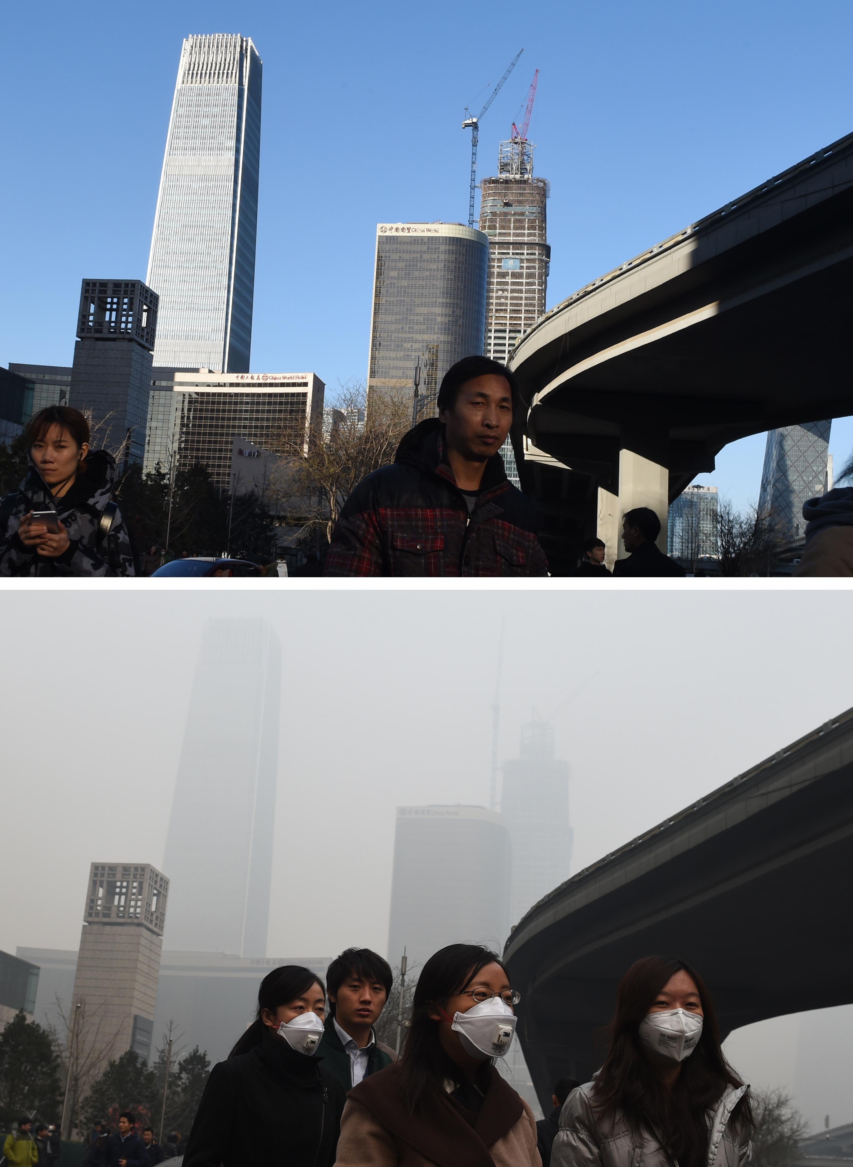 10 de diciembre (arriba) y 9 de diciembre (abajo)   Greg Baker   Agence France-Presse