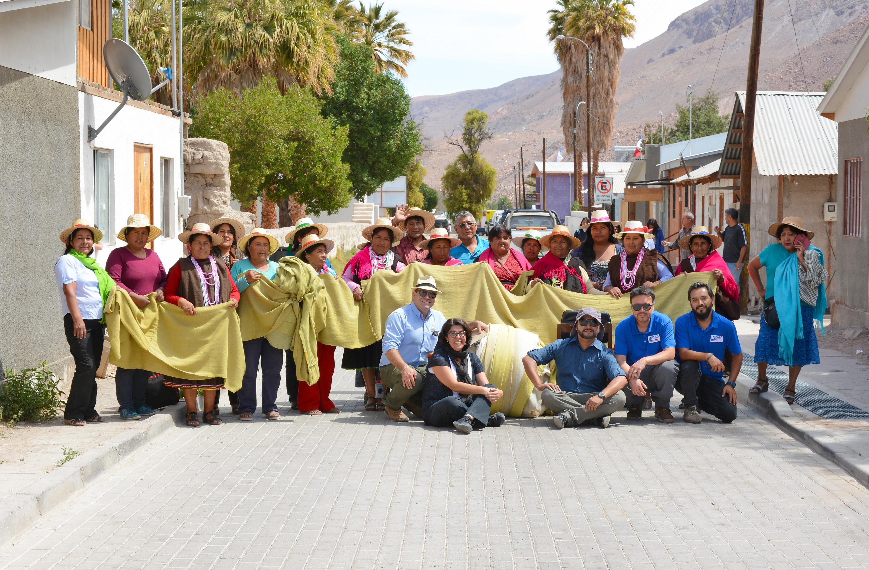Chal de alpaca más largo del mundo | Indap