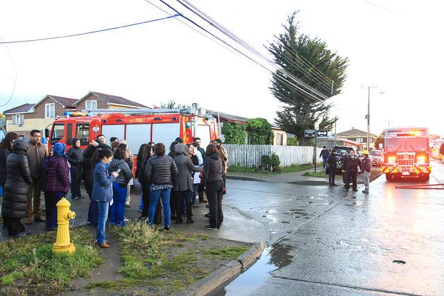 Gente evacuada.