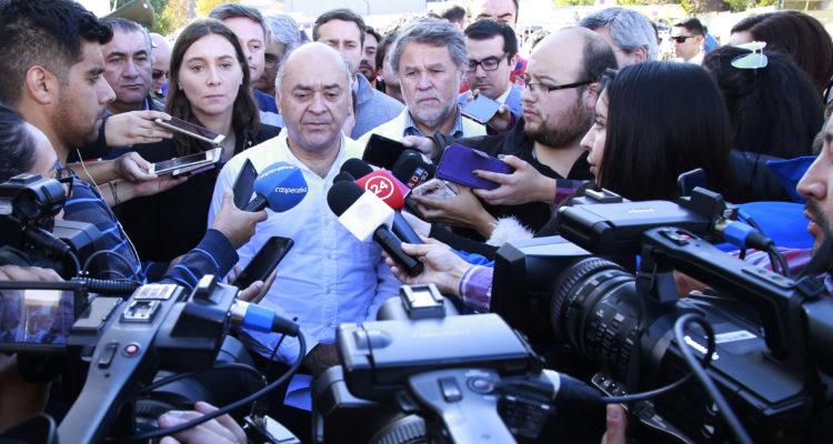 Intendente Jorge Ulloa durante la emergencia | Agencia UNO