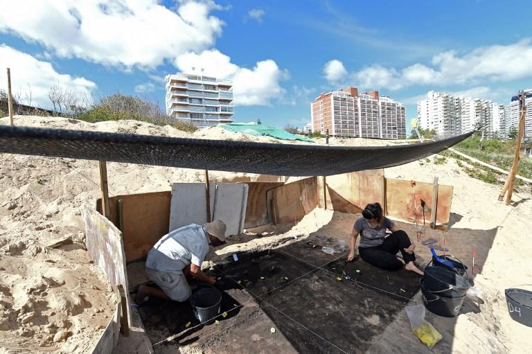 Restos arqueológicos hallados en Punta del Este | Miguel Rojo | AFP