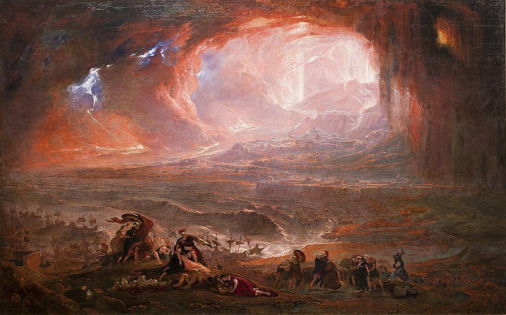 Destrucción de Pompeya y Herculano (1822), de John Martin