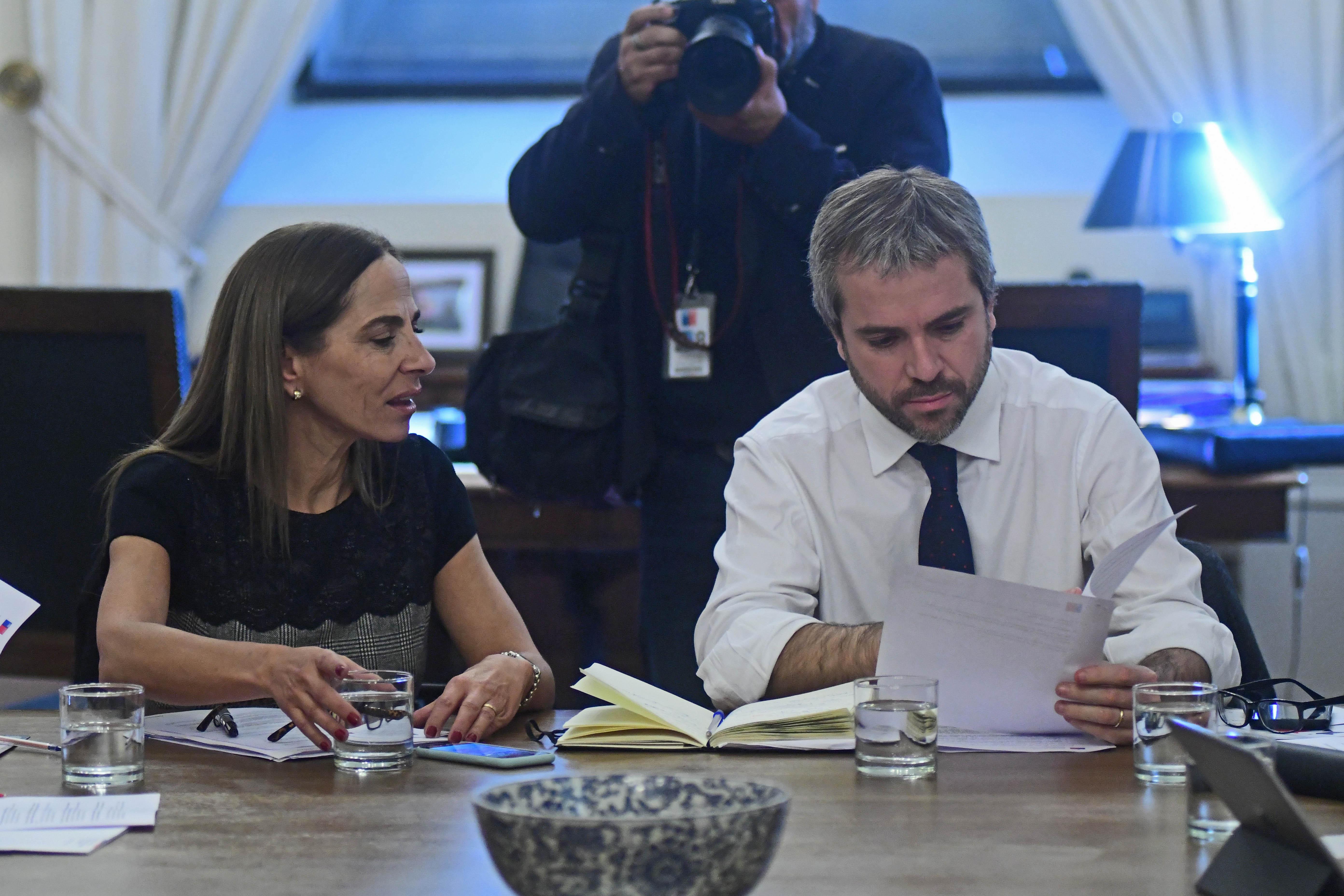 Reunion de trabajo del Ministro Gonzalo Blumel y Isablel Pla