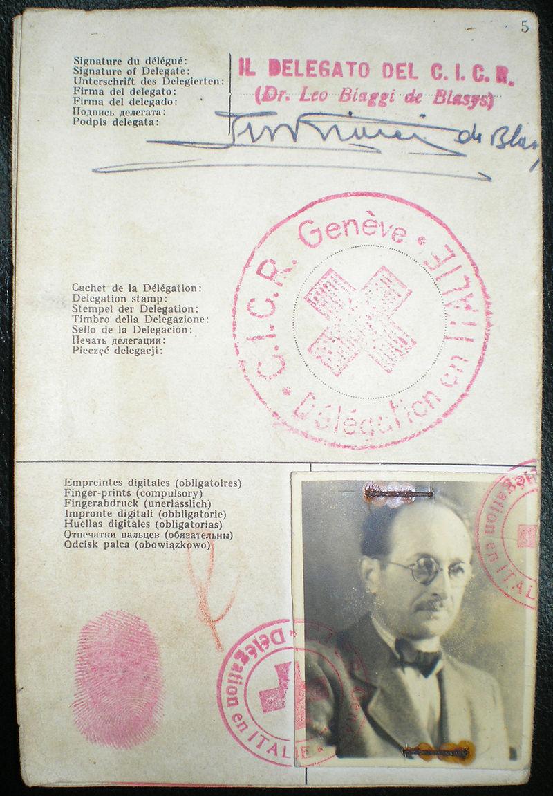Pasaporte de Eichmann con los datos falsos de Ricardo Klement (CC) Wikimedia Commons