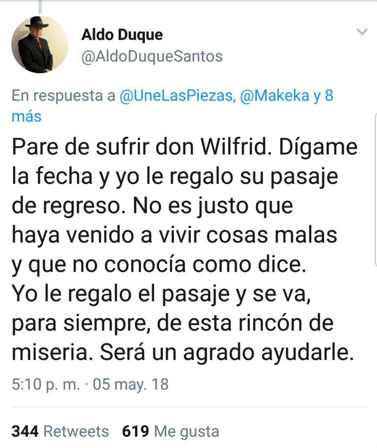 Aldo Duque | Twitter