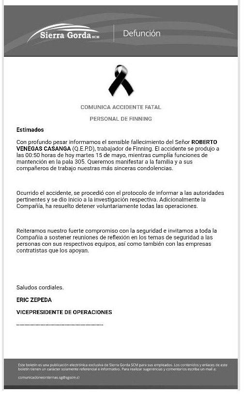 Sierra Gorda SCM.