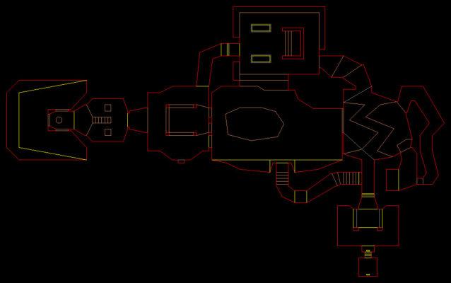 E1M1, uno de los mapas utilizados como ejemplo para la IA