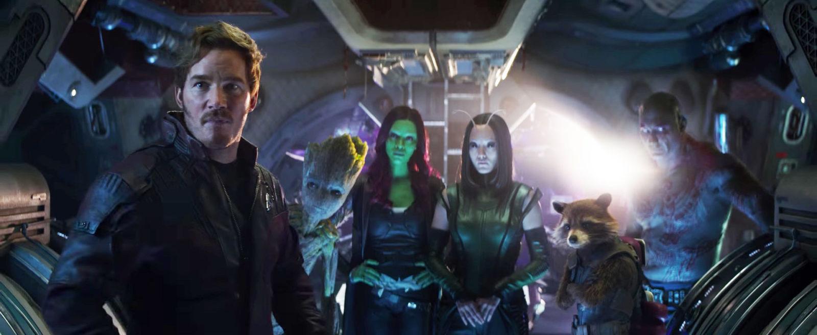 """Guardianes de la Galaxia en """"Los Vengadores: la guerra del infinto (2018)"""""""