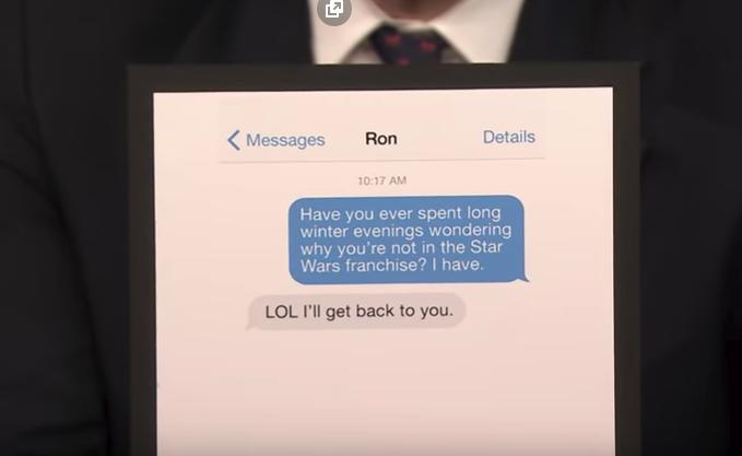 Mensaje de Paul Bettany a Ron Howard The Tonight Show Starring Jimmy Fallon | Youtube