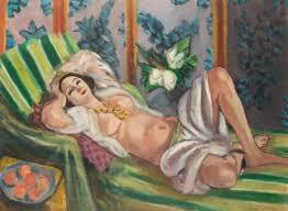 Odalisque couchée aux magnolia
