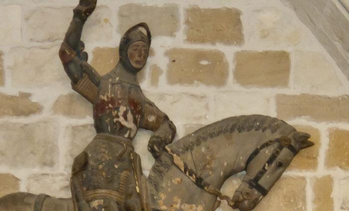 Detalle: San Jorge y el dragón (Antes de la restauración) | Luis Sanz (CC)