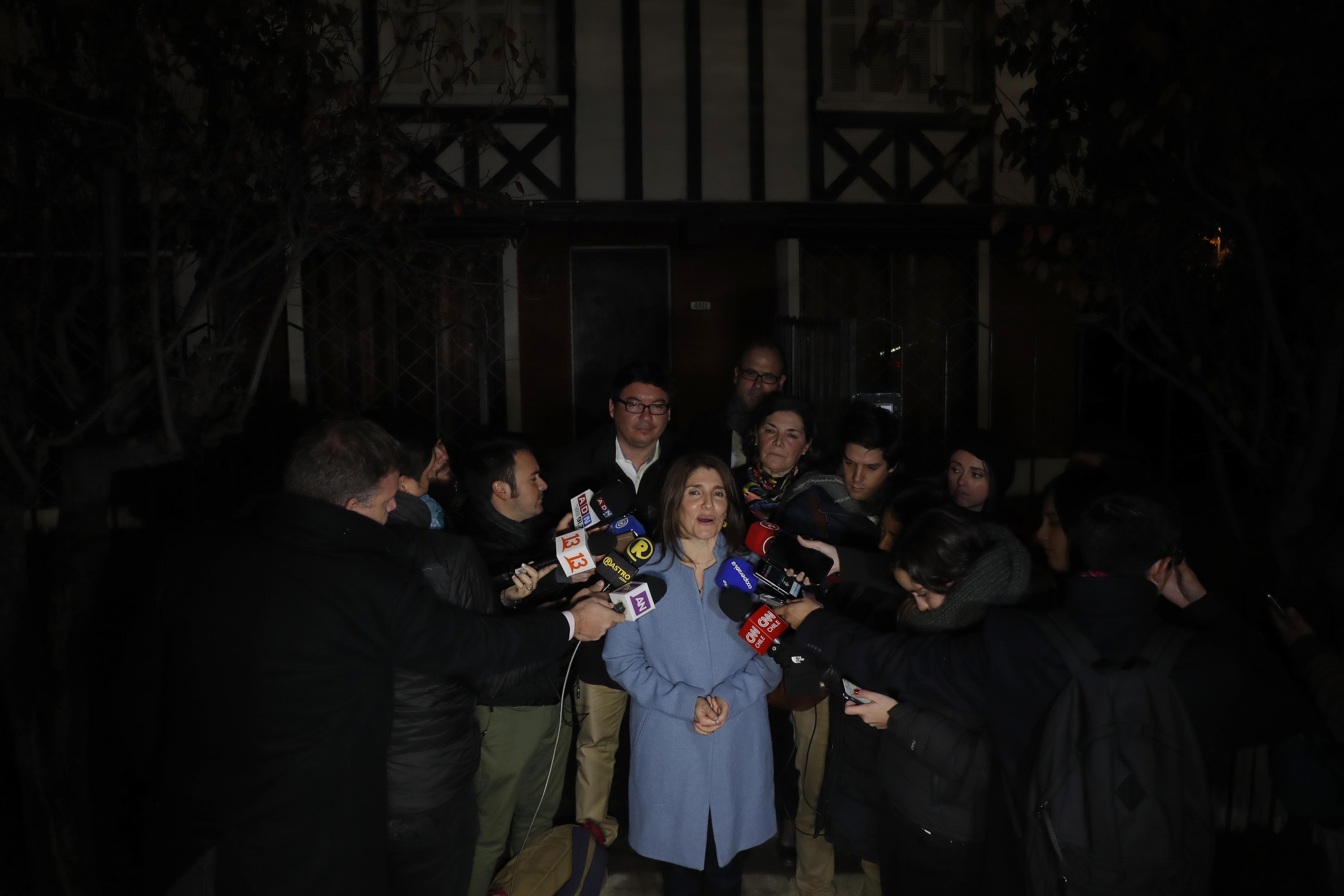 Paula Narváez realiza punto de prensa. Francisco Flores Seguel   Agencia UNO