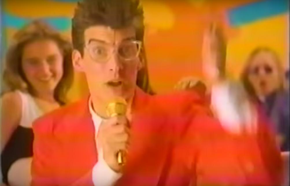 Daniel Stingo en su primer comercial