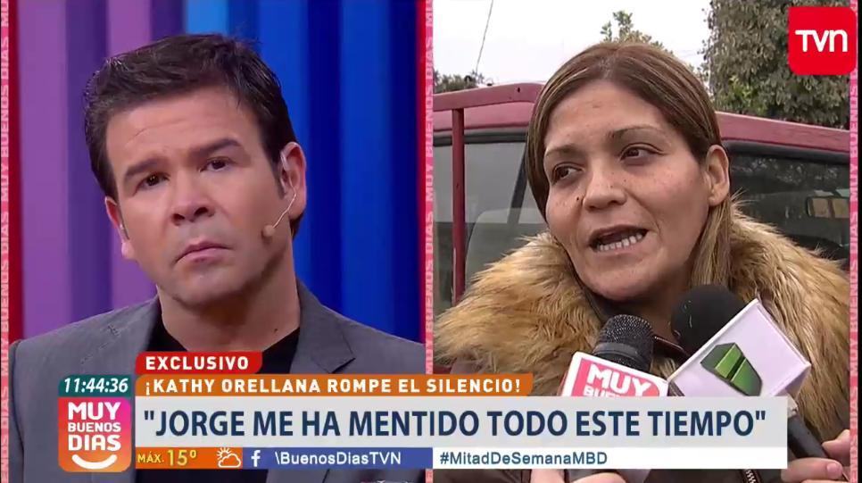 Katherine Orellana y su pareja se enfrentan en un matinal