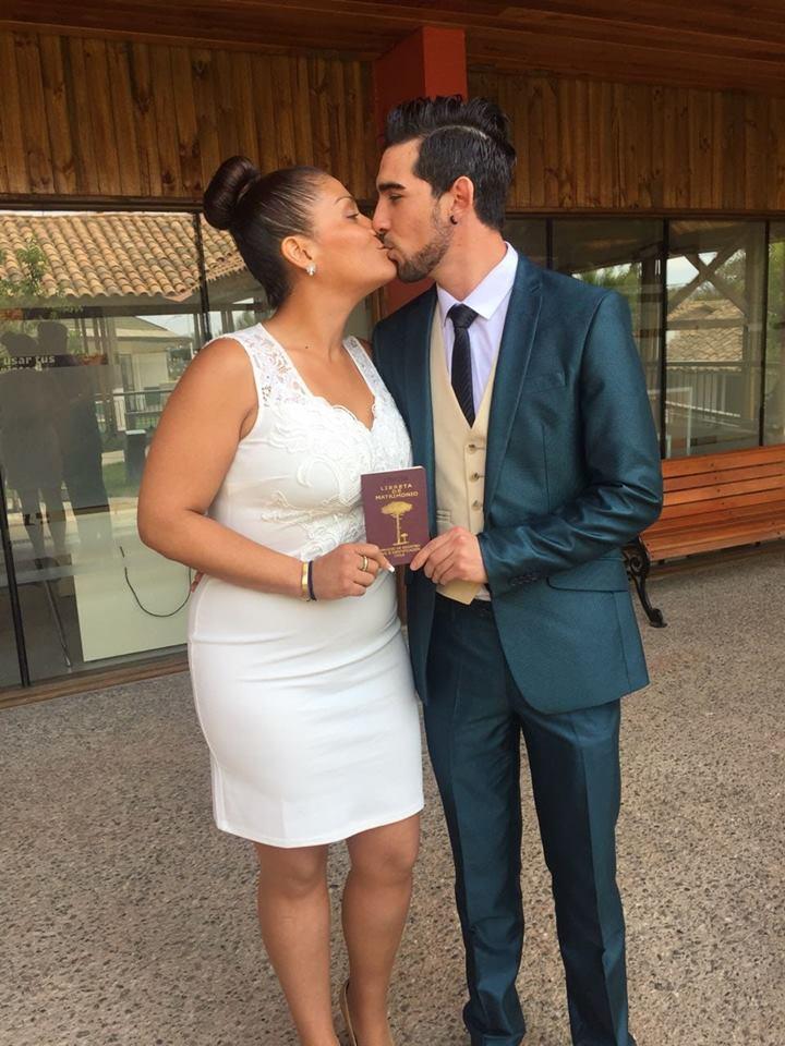 Katherine Orellana y Jorge Cáceres | Facebook