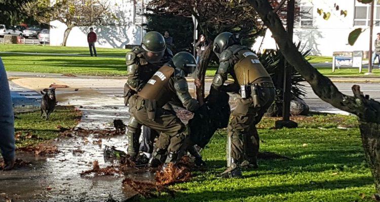 Disturbios de esta tarde en campus UdeC | Danilo Ormeño (RBB)