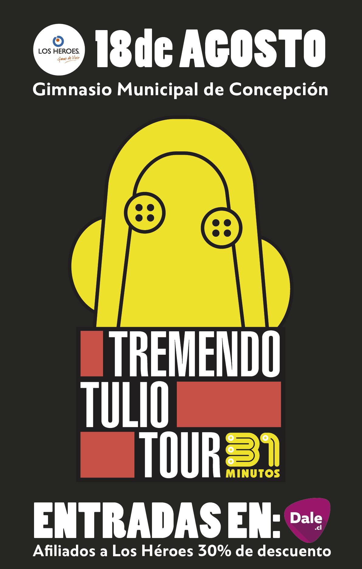 """El afiche de """"Tremendo Tulio Tour""""."""