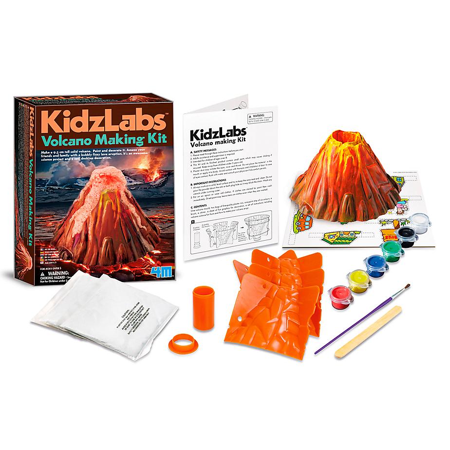 Juego para armar tu propio volcán