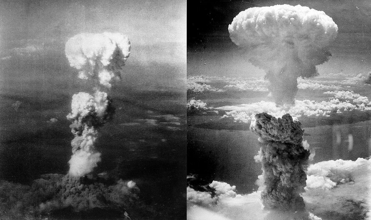 Bombas atómicas en Hiroshima (izquierda) y Nagasaki (derecha)   Wikimedia Commons (CC)