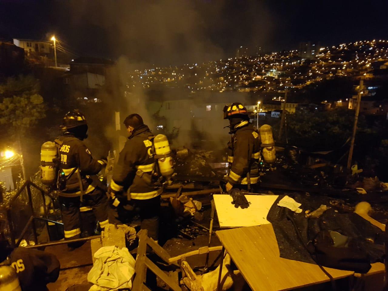 Incendio en cerro Merced | RNE Valparaíso